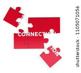 realistic red six pieces of...   Shutterstock . vector #1105071056