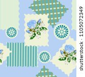 seamless floral patchwork... | Shutterstock .eps vector #1105072349