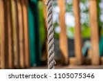 climbing rope jungle gym...   Shutterstock . vector #1105075346