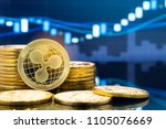 ripple  xrp  and cryptocurrency ... | Shutterstock . vector #1105076669