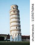 leaning tower of pisa in pisa ... | Shutterstock . vector #1105076846