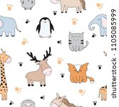 vector seamless pattern.... | Shutterstock .eps vector #1105085999