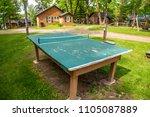 outdoor ping pong table tennis...   Shutterstock . vector #1105087889
