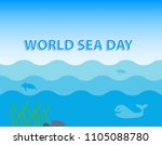 world sea day concept with... | Shutterstock .eps vector #1105088780