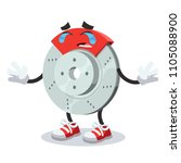 crying cartoon car brake mascot ... | Shutterstock .eps vector #1105088900