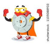 super hero cartoon car brake... | Shutterstock .eps vector #1105088933