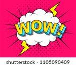 wow  comic vector cartoon... | Shutterstock .eps vector #1105090409