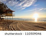 lifeguard patrol tower on the... | Shutterstock . vector #110509046