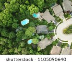 drone image of a pristine...   Shutterstock . vector #1105090640