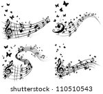 musical designs sets with... | Shutterstock .eps vector #110510543