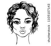 african american beautiful... | Shutterstock .eps vector #1105107143