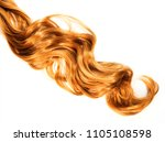 long curly strawberry blond... | Shutterstock . vector #1105108598