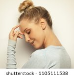 lifestyle and people concept  ...   Shutterstock . vector #1105111538