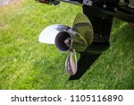 boat propeller close up chrome... | Shutterstock . vector #1105116890