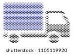 fish delivery lorry halftone...   Shutterstock .eps vector #1105119920