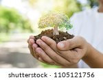 world environment day and save...   Shutterstock . vector #1105121756