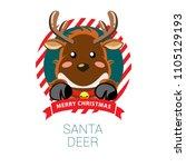 reindeer are waiting for santa...   Shutterstock .eps vector #1105129193