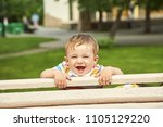 outdoor portrait of a boy.... | Shutterstock . vector #1105129220