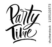 party time lettering.... | Shutterstock .eps vector #1105133573