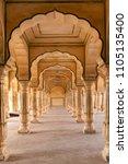 amer fort in jaipur  rajasthan  ... | Shutterstock . vector #1105135400
