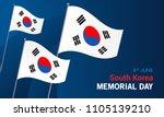south korea memorial day card... | Shutterstock .eps vector #1105139210