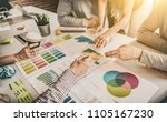 business people meeting at... | Shutterstock . vector #1105167230