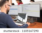 developing programming and... | Shutterstock . vector #1105167290
