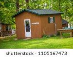 cabin up north windows porch...   Shutterstock . vector #1105167473