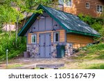 cabin up north windows porch...   Shutterstock . vector #1105167479