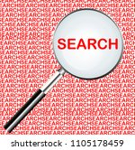 word of search highlighted with ... | Shutterstock .eps vector #1105178459