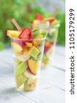 Fruit Salad In Plastic Cups...