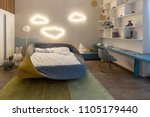 modern kid's room with luminous ... | Shutterstock . vector #1105179440
