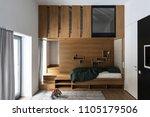 children's room with large... | Shutterstock . vector #1105179506