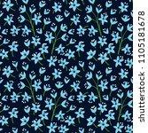vintage floral background.... | Shutterstock .eps vector #1105181678
