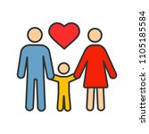family color icon. adoption.... | Shutterstock .eps vector #1105185584