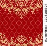 floral pattern. vintage... | Shutterstock .eps vector #1105188929