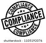 compliance round grunge black... | Shutterstock .eps vector #1105192076