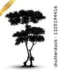 realistic tree silhouette...   Shutterstock .eps vector #1105194416
