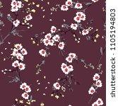 beautiful soft oriental flower... | Shutterstock .eps vector #1105194803