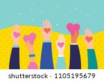 concept of charity and donation.... | Shutterstock .eps vector #1105195679