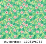 simple cute pattern in small... | Shutterstock .eps vector #1105196753
