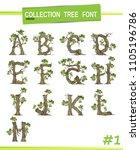 tree font  isolated on white... | Shutterstock .eps vector #1105196786