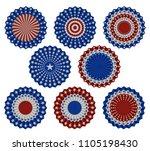 set of american bunting ...   Shutterstock .eps vector #1105198430