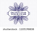 blue money style rosette with... | Shutterstock .eps vector #1105198838