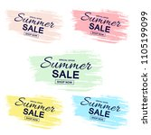 summer labels  logos  hand... | Shutterstock .eps vector #1105199099
