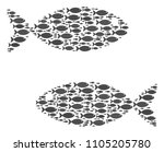 fish pair vector composition....   Shutterstock .eps vector #1105205780