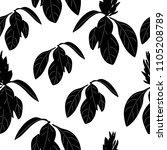 floral seamless pattern. design ... | Shutterstock .eps vector #1105208789