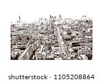 aerial view of london city.... | Shutterstock .eps vector #1105208864
