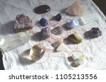 witchy healing crystal grid.... | Shutterstock . vector #1105213556