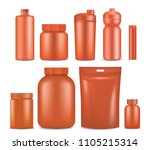 sport nutrition container... | Shutterstock . vector #1105215314